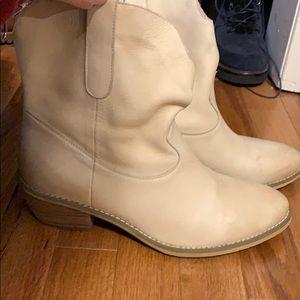 Cream Booties.